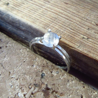 Claw Ring Sterling Silver with Moonstone Set of 2