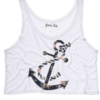 Elegant Anchor Crop Tank Top