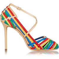 Charlotte Olympia - Mariachi  leather and suede pumps