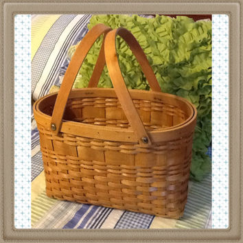 Oval Vintage Natural Woven Wine Basket-Country Decor-Home Decor-Gift-Storage-Centerpiece-Table Decor-Kitchen Decor-Bathroom Decor