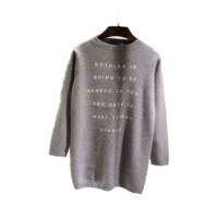 Make Things Happen Pullover Sweater