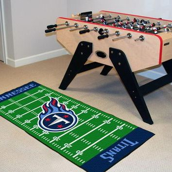 FANMATS Tennessee Titans Field Runner Mat Area Rug, Man Cave, Bar, Game Room