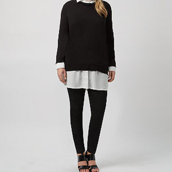 Inspire Black 2 in 1 Jumper Blouse