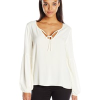Sanctuary Women's Scarlet Peasant Top Creme Large