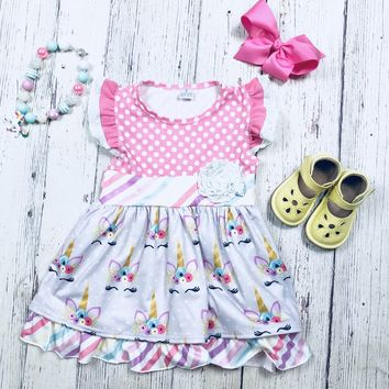 RTS Polka Dot Unicorn Dress D20
