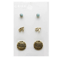 Blessed 3pc Stud Earring Set