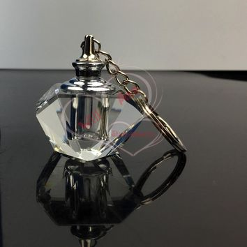 Mini Parfum Bottle Crystal Glass Keychain Oil Perfume Bottle Wholesle Small Promotion Gifts