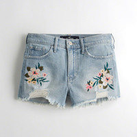 Girls Vintage Stretch High-Rise Denim Short-Shorts | Girls Bottoms | HollisterCo.com