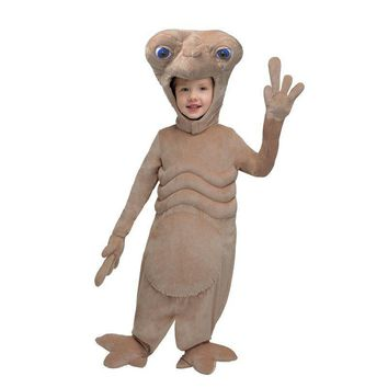 Cute Alien E.T. Plush Toddler Costume Halloween Party Kids Performance Cosplay Carnival Jumpsuit