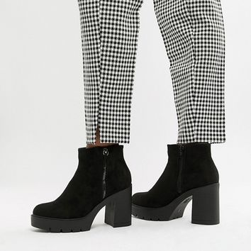 New Look Chunky Heeled Boot at asos.com