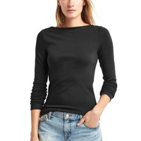 Modern long sleeve boatneck tee | Gap