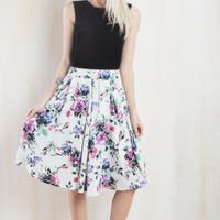 Mauvelous Floral Midi Skirt