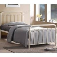 Time Living Miami Ivory Metal Bed Frame