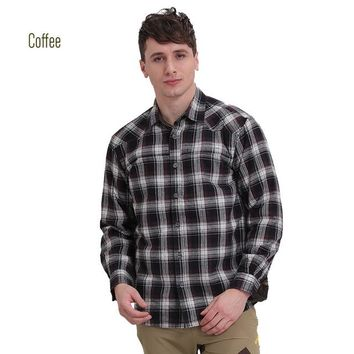 Hiking Shirt camping ROYALWAY Camping Hiking Men Shirts With Fleeces Super Warm High Quality European Style Winter 2017 New Arrival #RTM1461D KO_17_1