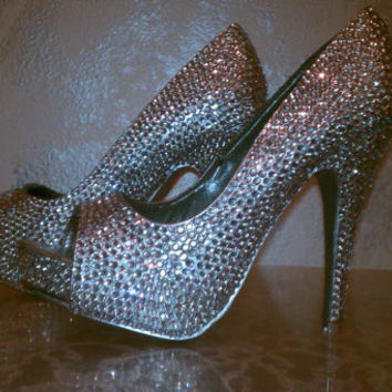Crystal Sparkle Shoes High Heels