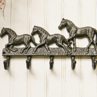 Horse Wall Hook - Choose Your Color - Colorful Cast and Crew