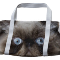 Funny Cat Duffle Bag created by ErikaKaisersot | Print All Over Me