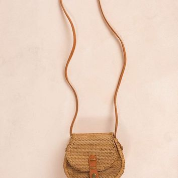 Alana Straw Saddle Bag
