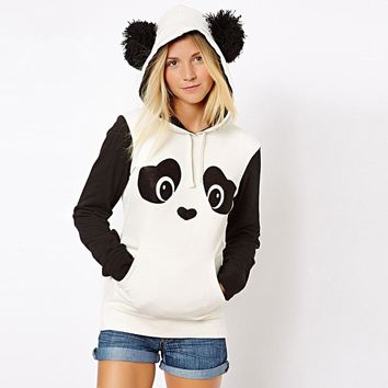 panda hoodie jacket animal hoodie sweatshirt with ears Cosplay