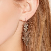 Tiered Triangle Drop Earrings | Forever 21 - 1000202213