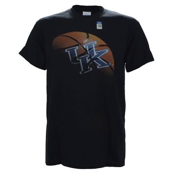 University of Kentucky UK REAL BALL on a Black Short Sleeve T Shirt