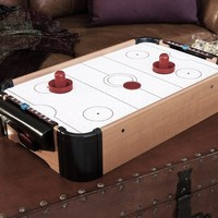 "20"" Wood Tabletop Air Hockey (Batteries not Included)"