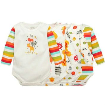 Baby Boys Girls long sleeved Rompers 2017 Newborn Baby's Clothes Kids Costume Jumpsuit&Rompers KF010