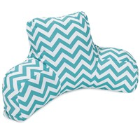 Teal Chevron Reading Pillow