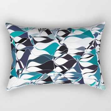 Abstract waves Rectangular Pillow by VanessaGF
