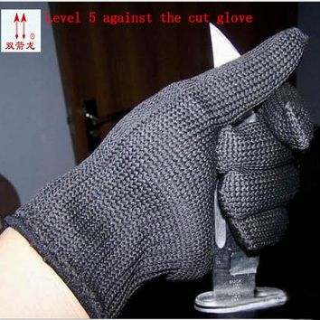 Europe and the authentic proof cut glove Cut against blade puncture-proof black cloth gloves gloves category 5 wire