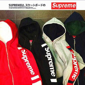 Supreme Contracted Hooded Sweater (4-Color)