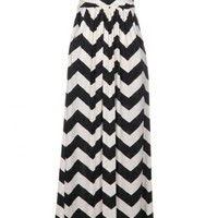 Fashion Chevron Damask Solid Women's Stripe Stapless Pocket Maxi Dress