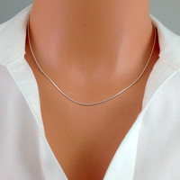 "16"" Sterling Silver Snake Chain (1mm)"