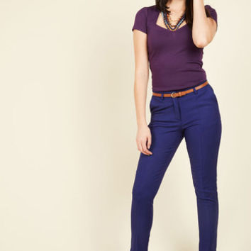Situationally Savvy Pants in Cobalt | Mod Retro Vintage Jackets | ModCloth.com
