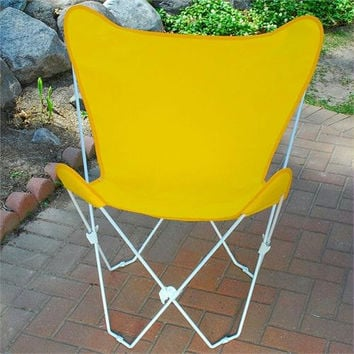 Folding Butterfly Chair - Removable Seat Cover