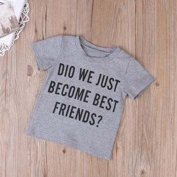 Toddler Kids Baby Boys Letter Brother Matching Clothes T shirt Tops Outfits