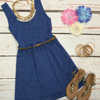 Sunny Afternoon Dress: Periwinkle