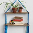 Magical Thinking Woven Hanging Shelf- Blue One