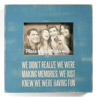 Primitives by Kathy 'Having Fun' Box Picture Frame - Blue (4x6)