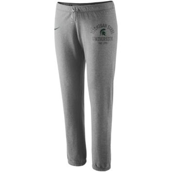 Nike Michigan State Spartans Ladies Rally Fleece Pants - Ash