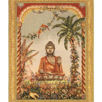 Buddha European Tapestry Wall Hanging
