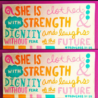 Dignity & Strength Proverbs Wall Art BEST SELLER
