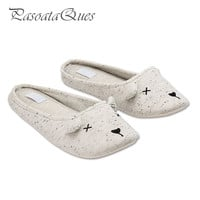 Cute Animal Cartoon Winter Home Slippers Women Indoor Cotton Shoes For Girls Ladies Female House Bedroom Floor Warm Flats 2016