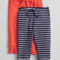 Favorite Stripe Pull-On Pants (2-Pack)|gap