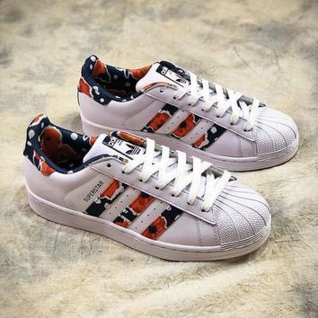 LMFUX5 Adidas Superstar Flower S3225017 Classic Shoes