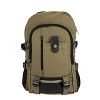 Multiple Pockets Laptop Rucksack Canvas Backpack
