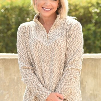 Nothing Matters Pullover Sweater - Oatmeal