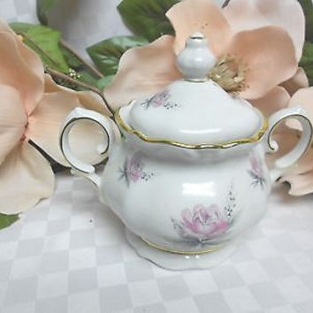 Royal M Bavaria China Dinnerware Bridal Rose Pattern # RMY1 Covered Sugar bowl