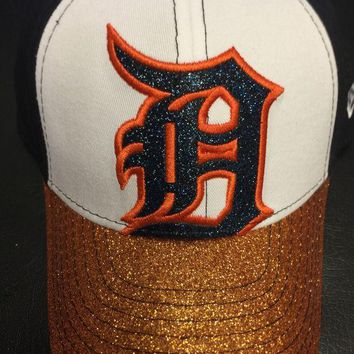 ESBON MLB Detroit Tigers Kids Team Color Shimmer Shine Adjustable Hat