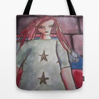 girl with dreads Tote Bag by helendeer